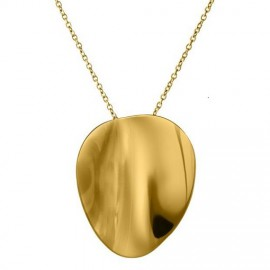 Pebble Necklace long goldplated