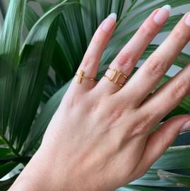 Gouden minimalistische open ring