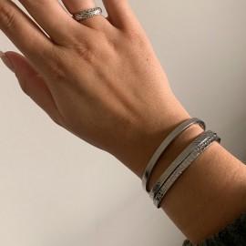 Armband crocodile silver