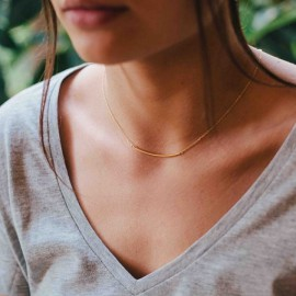 Gouden ignot ketting.