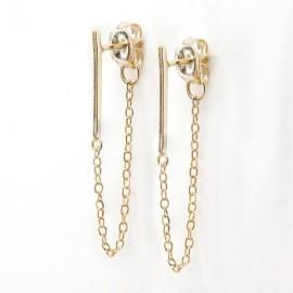 Gouden studs oorbellen