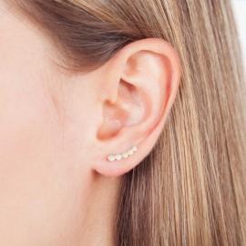 Gouden oorklimmers rondjes