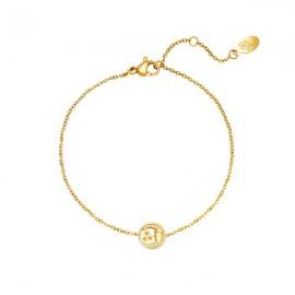 Gouden armband maan